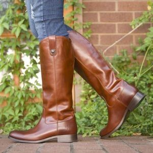 Frye // Melissa Button 2 Knee High Leather Boots